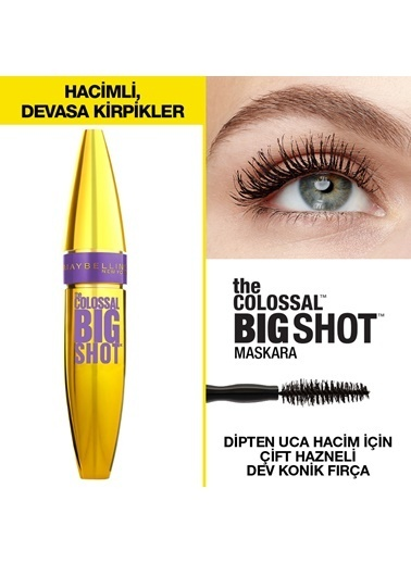 Maybelline The Colossal Big Shot Siyah Maskara Siyah